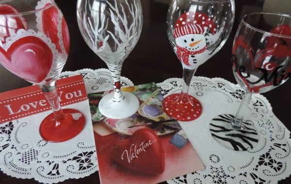 Brush and Bottle – WINE GLASS PAINTING!!