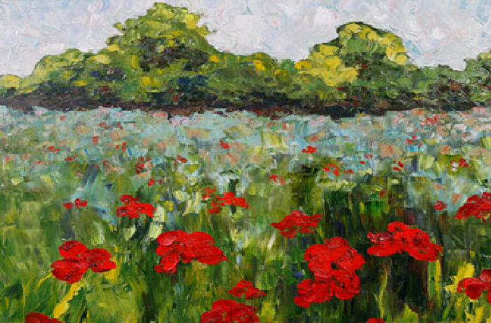 brush & bottle: Poppy Field  - Painting on Canvas @ Oxford Community Arts Center | Oxford | Ohio | United States