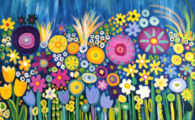 flower painting 700×460